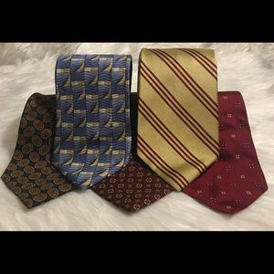 5 BROOKS BROTHERS MEN'S TIE 100% SILK MADE IN USA